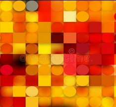 Red and Yellow color collage